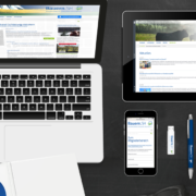 Darstellung Relaunch Bauernverband SH auf Laptop, Tablet und Smartphone