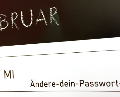 Eintrag im Kalender zum Ändere-dein-Passwort-Tag
