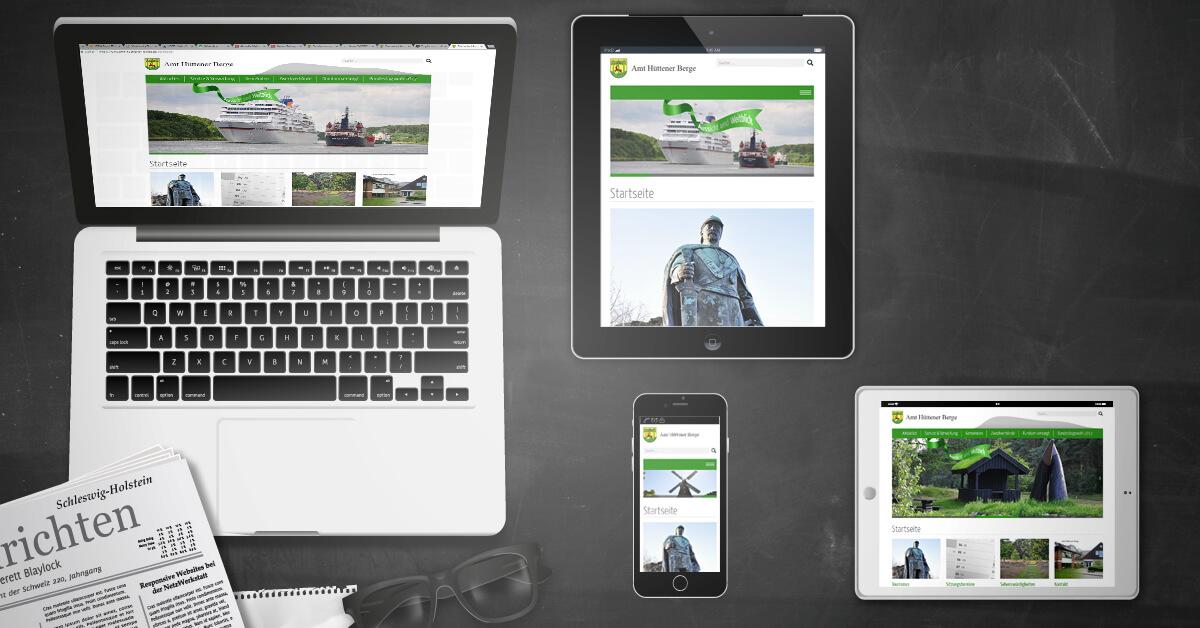 Nach sechs Jahren: TYPO3-Relaunch für das Amt Hüttener Berge